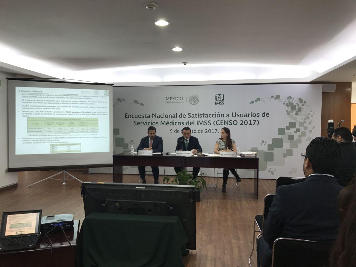 Servicios del IMSS tienen satisfechos a 83% de sus derechohabientes: Censo 2017