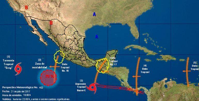 'Hilary' provocará oleaje de más de tres metros en el Pacífico