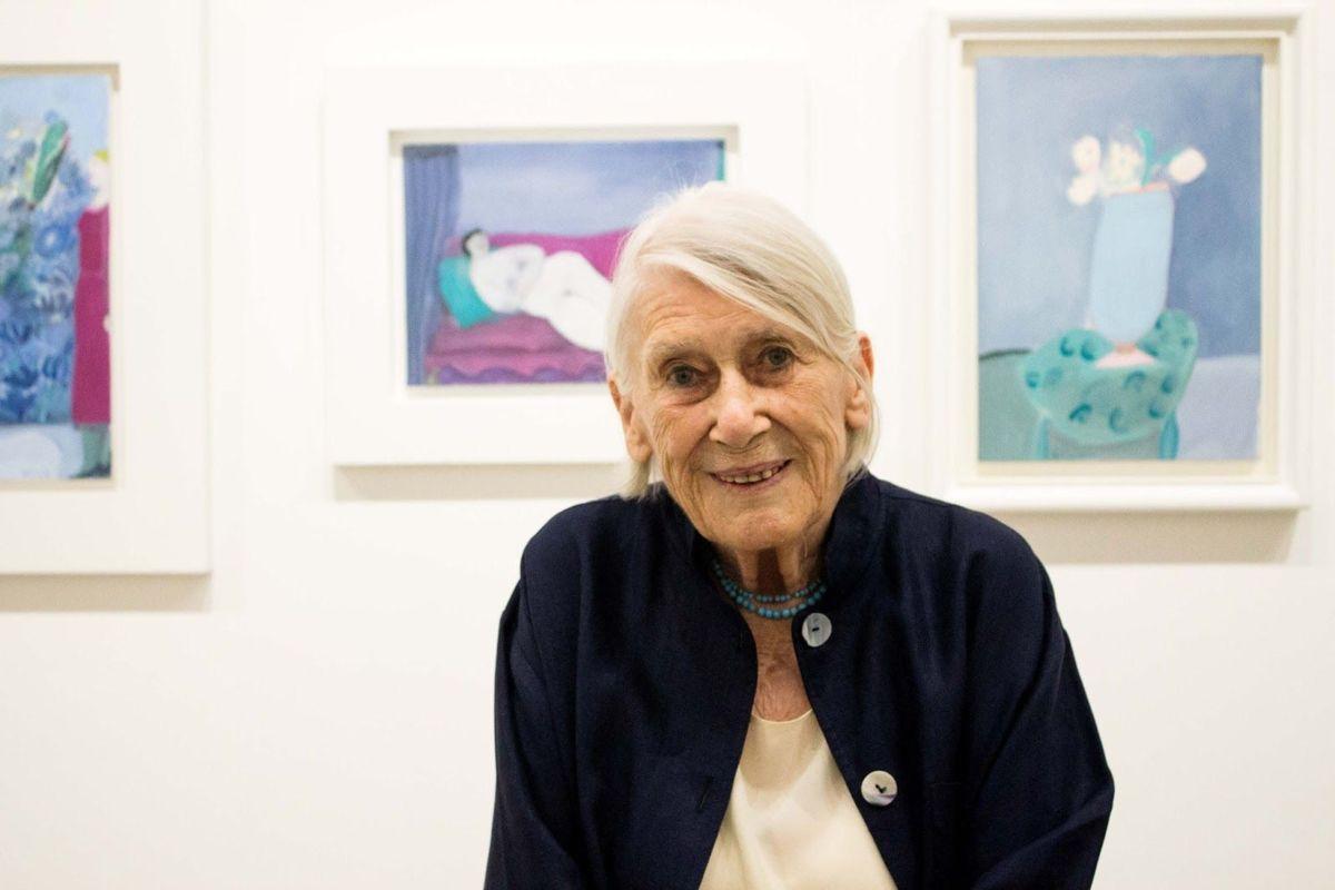 Joy Laville pintora y escultora