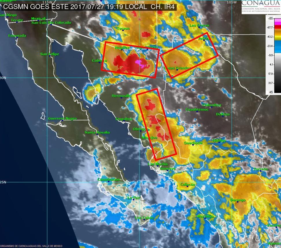 Continuarán tormentas muy fuertes el miércoles en gran parte del país