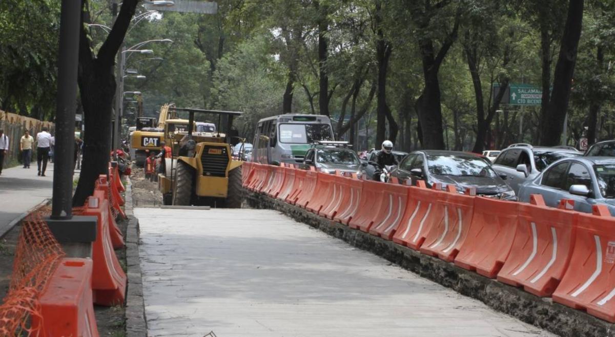 Ampliarán carriles confinados en Reforma por construcción de Metrobús
