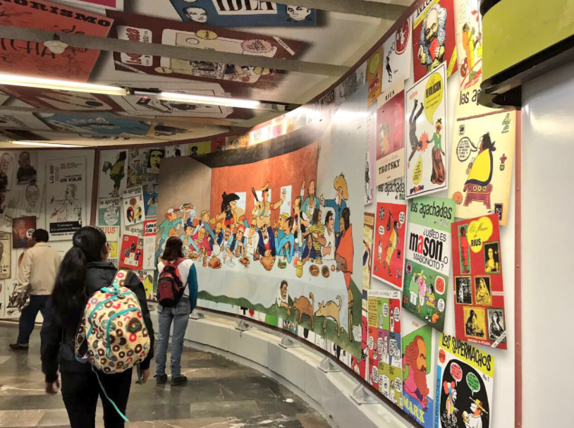 Inauguran museo de caricatura en Metro Zapata