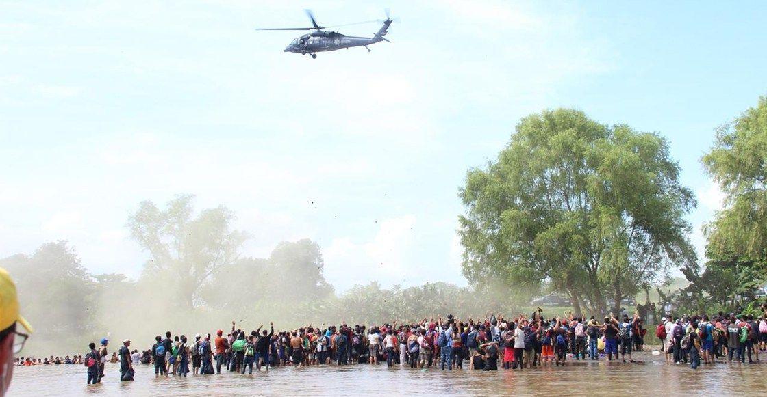 Investiga CNDH uso de helicóptero de PF contra migrantes