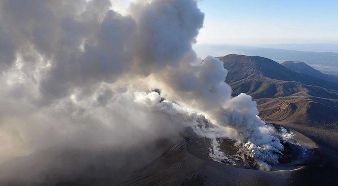 Foto: Volcán en Monte Kirishima / AP