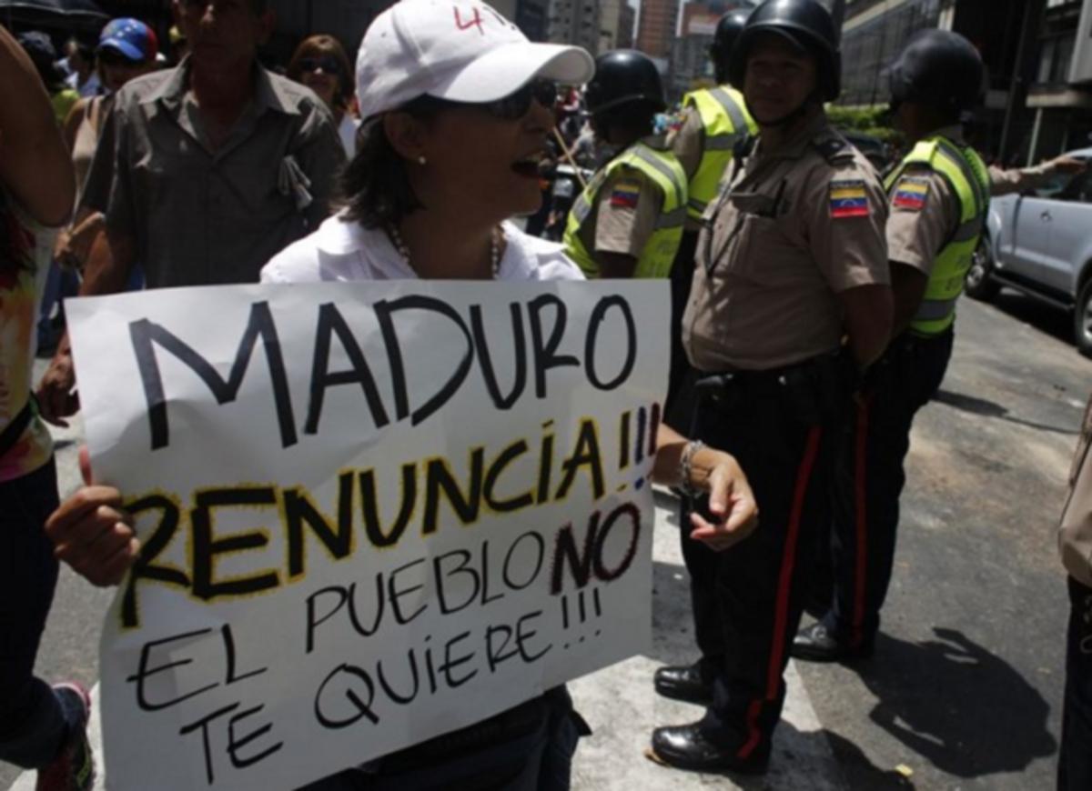 Protestas contra Nicolás Maduro
