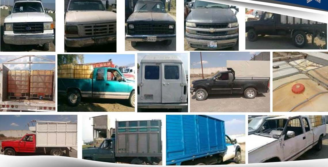 Aseguran en Puebla 12 vehículos y 5 mil litros de hidrocarburo