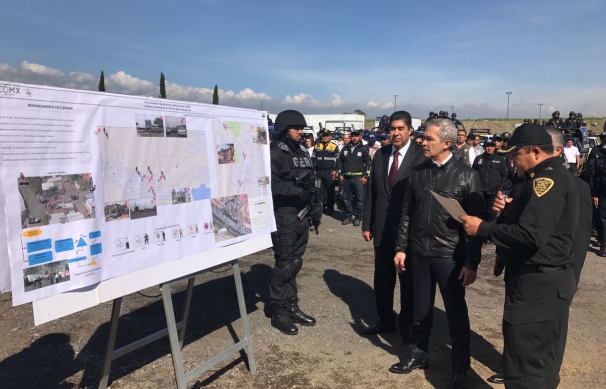 Inicia operativo de seguridad contra deshuesaderos en Tláhuac