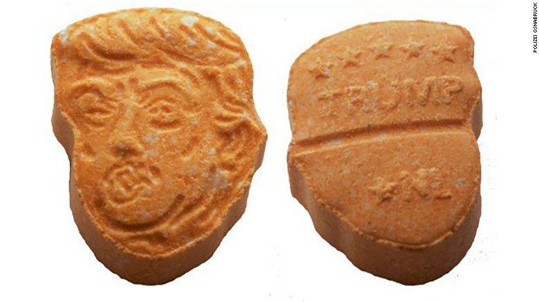 Aseguran 5 mil pastillas de éxtasis con rostro de Trump en Alemania