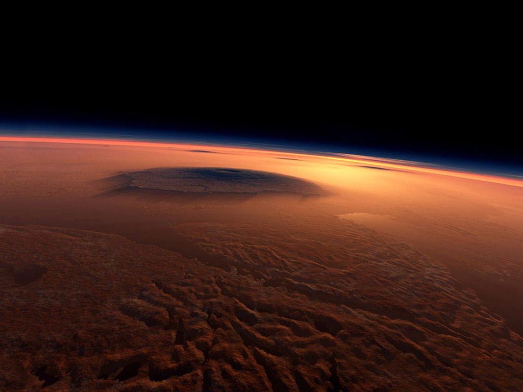 El hielo existe en Marte