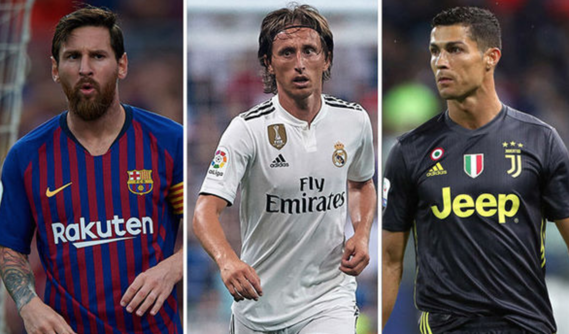 Cristiano, Luka y Messi nominados al Balón de Oro 2018