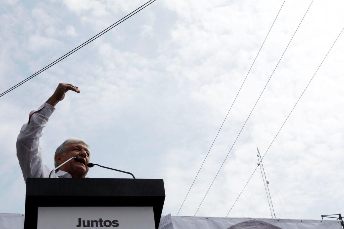 Andrés Manuel López Obrador, candidato presidencial de Juntos haremos historia