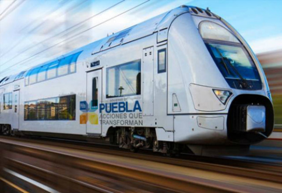 Render del Tren Turístico Puebla-Cholula